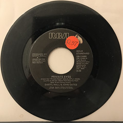 DARRYL HALL & JOHN OATES:PRIVATE EYES(RECORD SIDE-A)