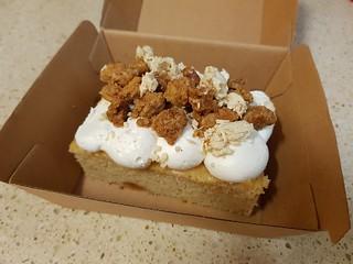Apple Crumble Cake with Roasted Tahini at Yavanna