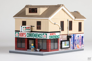 Finally got professional photos of my Lego Kim's Convenience.  Big thanks to Nicolas at Facebook.com/NicolasTMedia for the pic. | by FraserValleyBricks