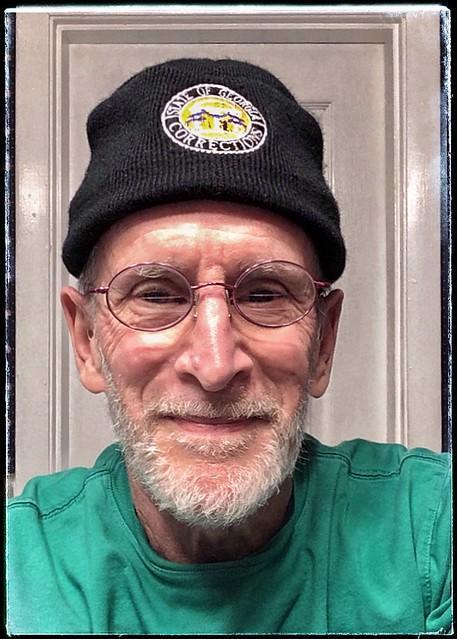 Self-Portrait wearing my New Toboggan   12/16/2018 Found, Washed & Worn