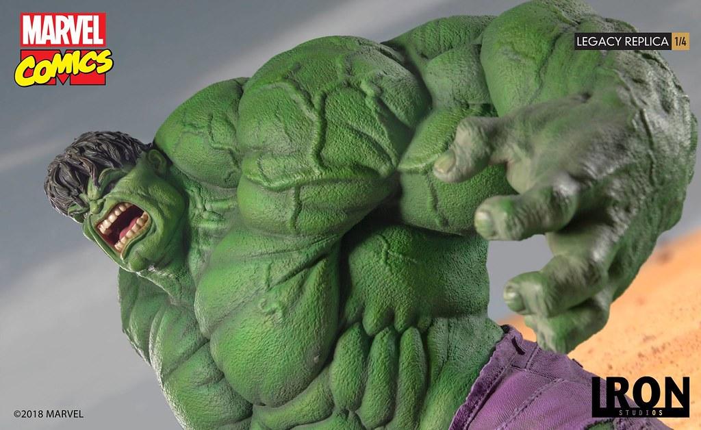 可以把導彈當玩具隨手一抓的綠色大怪物!! Iron Studios Legacy Replica 系列 Marvel Comics【浩克】Hulk 1/4 比例全身雕像作品
