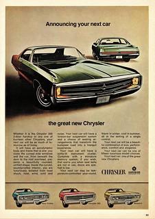 1969 Chrysler 300 2-Door Hardtop (Canadian Ad)