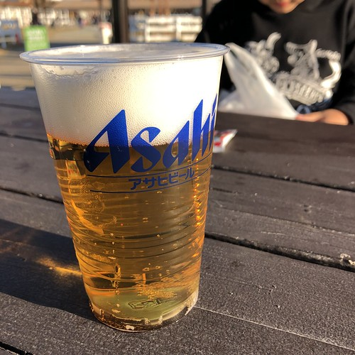 ソレイユの丘キャンプ場でビール