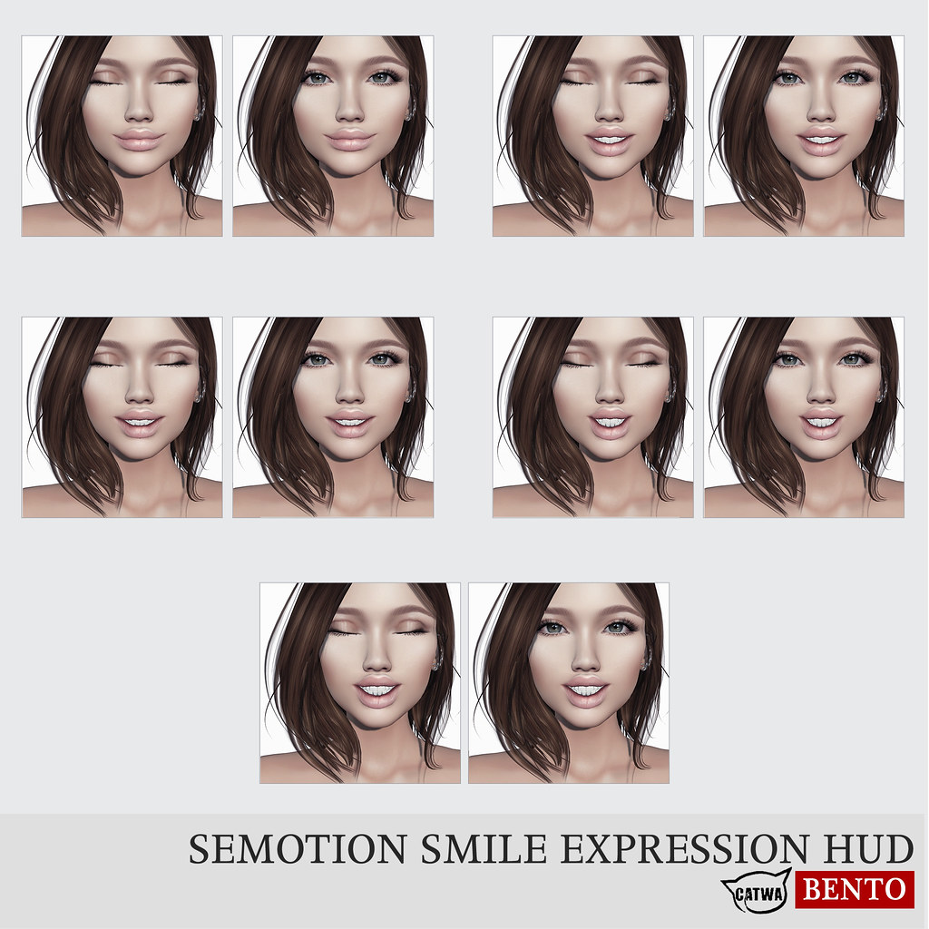 SEmotion Smile Expression HUD [Catwa] @ Collabor88 - TeleportHub.com Live!