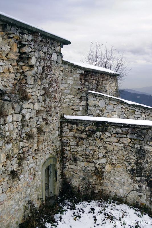 Фрагмент крепостных сооружений