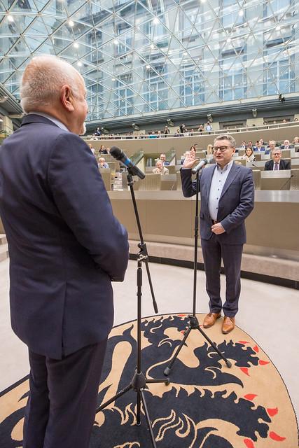6 februari 2019 - Eedaflegging minister Koen Van den Heuvel en volksvertegenwoordiger Maurice Helsen