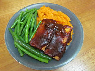 Tofu Short Ribs with Gingery Mashed Root Vegetables