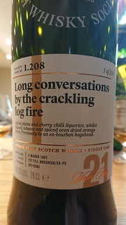 SMWS 1.208 - Long conversations by the crackling log fire