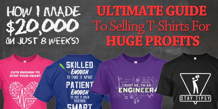 Kiếm tiền Online bằng việc bán áo thun trên Teespring, Shopify, Merch by Amazon