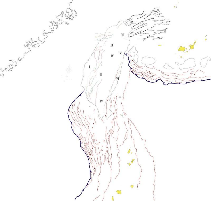 台灣核電廠緊鄰海陸域活動斷層圖(資料提供-台大地質系教授陳文山)