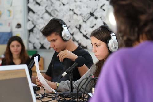 Taller radiofònic a l'Institut Vilamajor