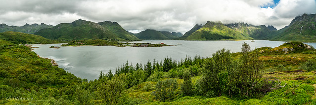 Panorama on Austnesfjorden (Norway)