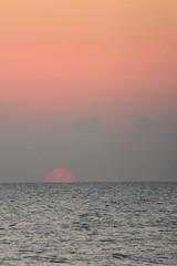 Rising sun seen from Aleenta Hua Hin, Pranburi, Thailand
