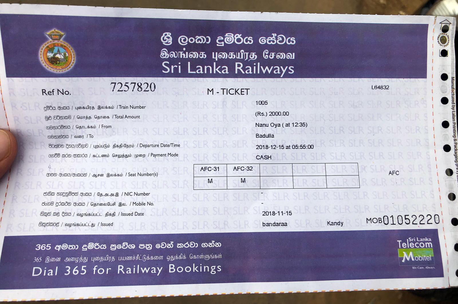 Tren de Ella, Ella Railway - Sri Lanka tren de ella - 31954634197 20491a7b0e h - Tren de Ella en Sri Lanka: ¿El viaje en tren más pintoresco del mundo?