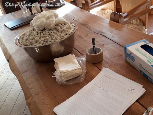 Baumwollbeutel mit Quarzkies