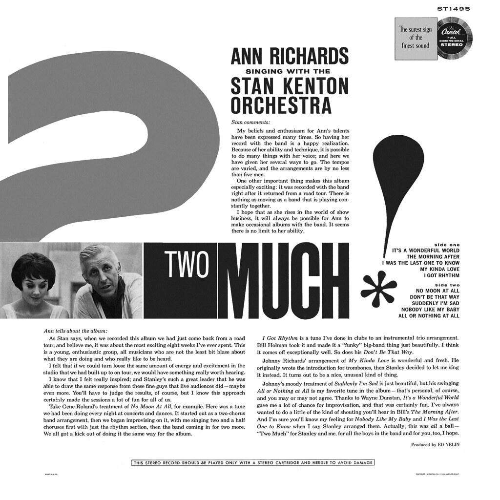 Ann Richards & Stan Kenton - Two Much