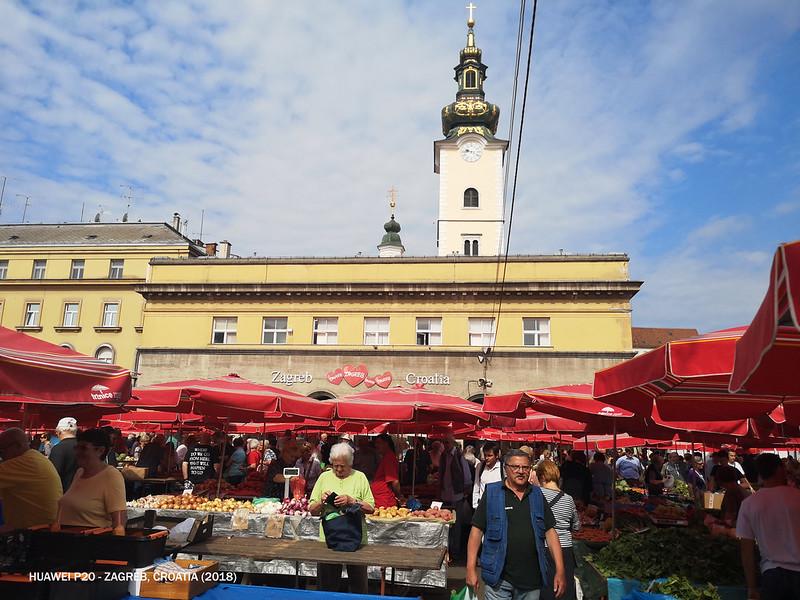 2018 Croatia Zagreb Dolac Market