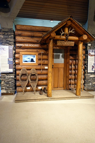 Banff Whyte Museum Skoki Lodge Exhibit. From History Comes Alive in Banff National Park