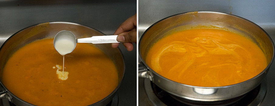 Creamy Tomato Soup cooking steps by GoSpicy.net