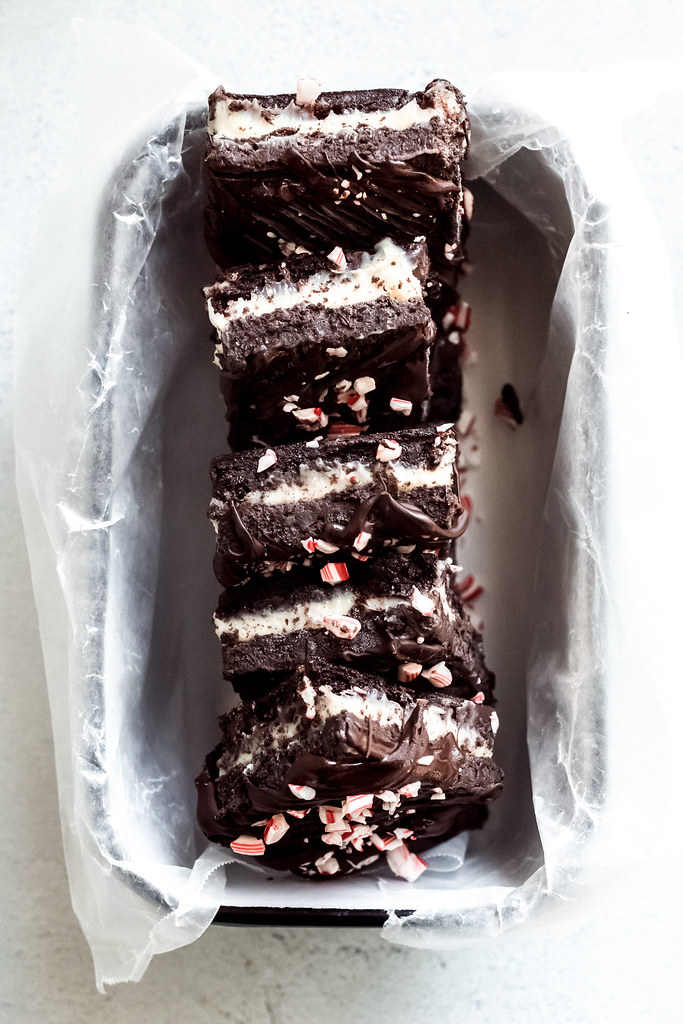 Peppermint Oreo Truffle Brownies