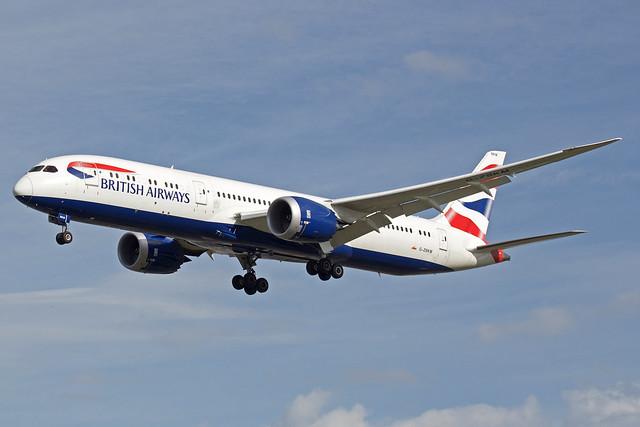 British Airways Boeing 787-9 Dreamliner G-ZBKM