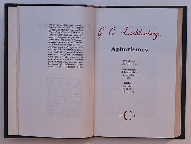 G. C. Lichtenberg : Aphorismes