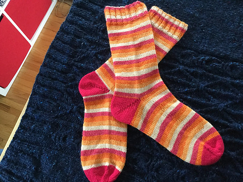 Nicole's vanilla socks - West Yorkshire Spinners Signature 4 Ply in Tequila Sunrise