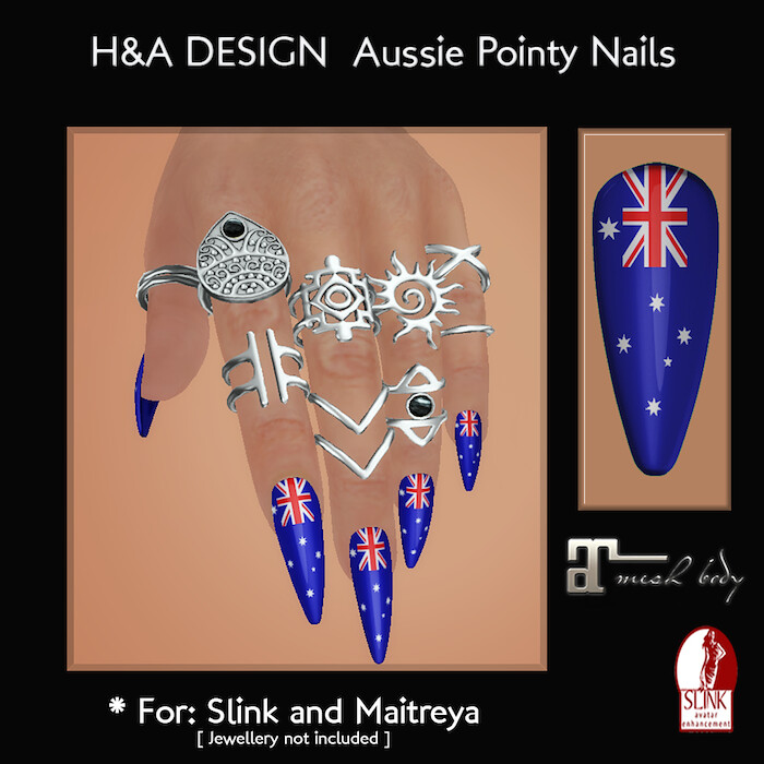 [H&A Designs] – Aussie Bento Pointy Nails