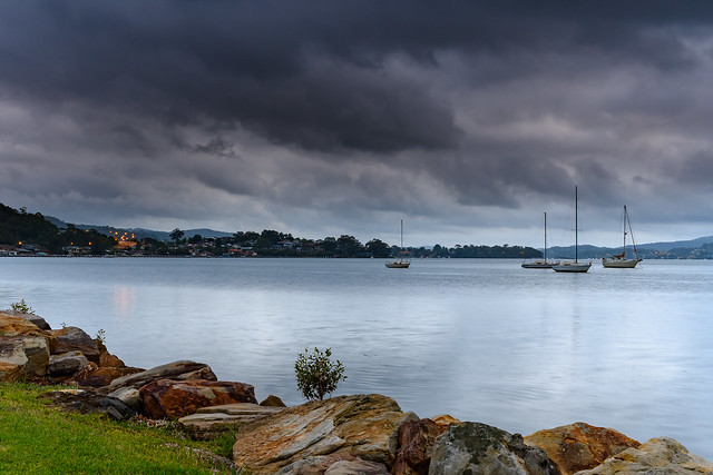 Grey and Cloudy start to the day at the waterfront