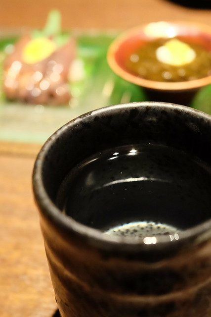 珍味三種盛り合わせに金鶴 本醸造