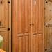 Tall pitch pine wardrobe E300