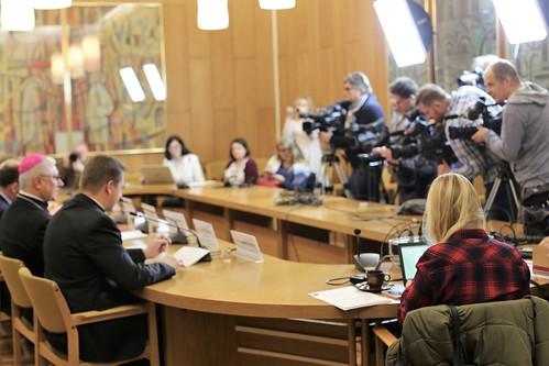 Konferencja prasowa przed XIX Dniem Modlitwy i Pomocy Kościołowi na Wschodzie, Warszawa, 28 XI 2018