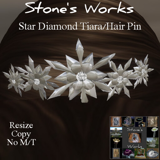 Diamond Star Tiara Hair Pin - TeleportHub.com Live!