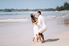 Loving Couple at the Indian Ocean Beach
