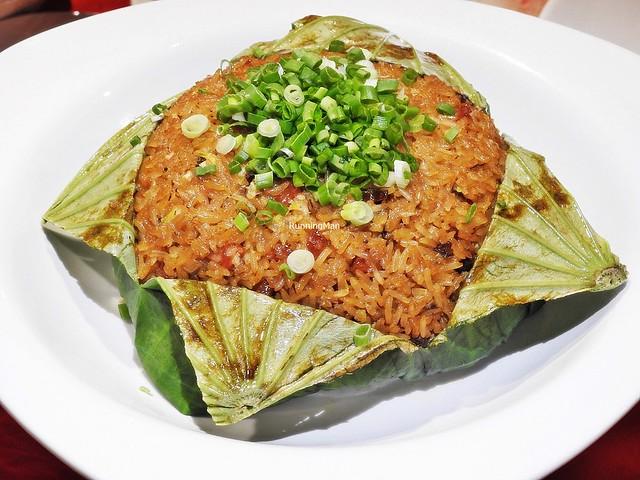 Fragrant Lotus Leaf Rice With Chinese Sausage & Mushrooms