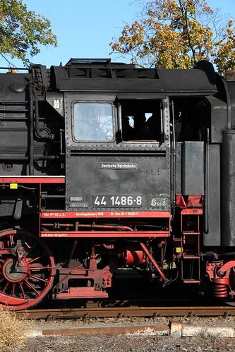 2018-10-20; 0154. ZL ETB 44 1486-8  en SL IGE Werrabahn 52 1360-8 met GZ 404. Immelborn. Plandampf im Werratal, Dampffinale.