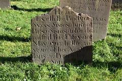 Heare Lyeth the Body of Susan Simon wife of Benjamin Simon