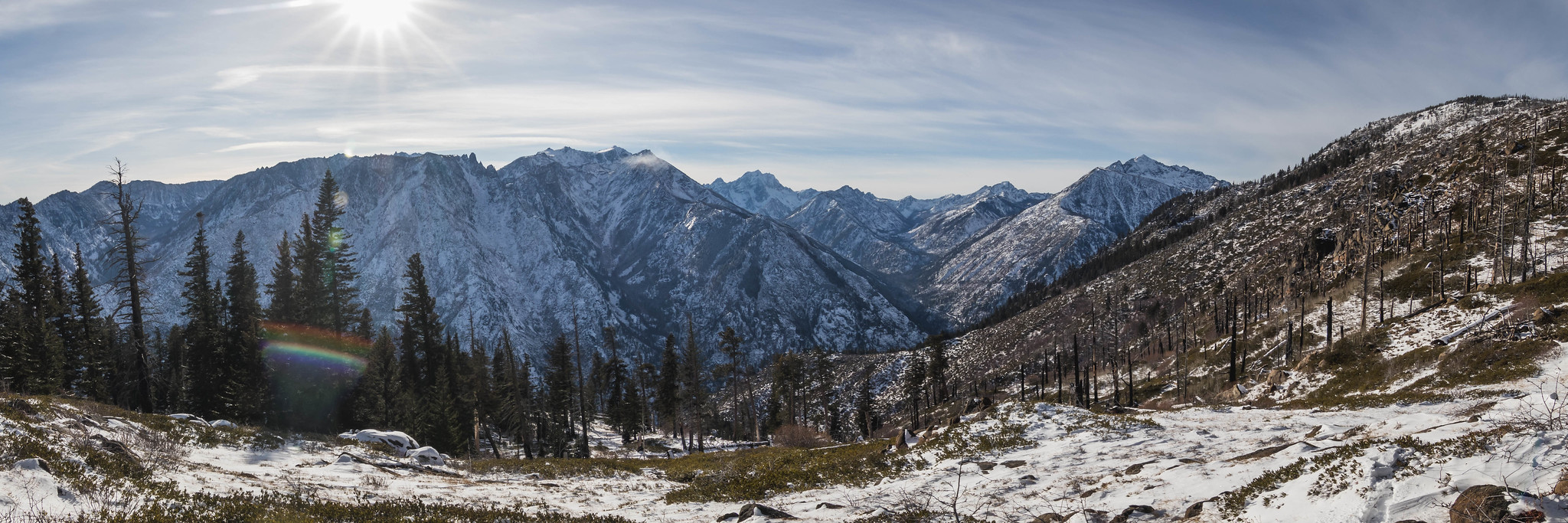 Panoramic view on Icicle Ridge