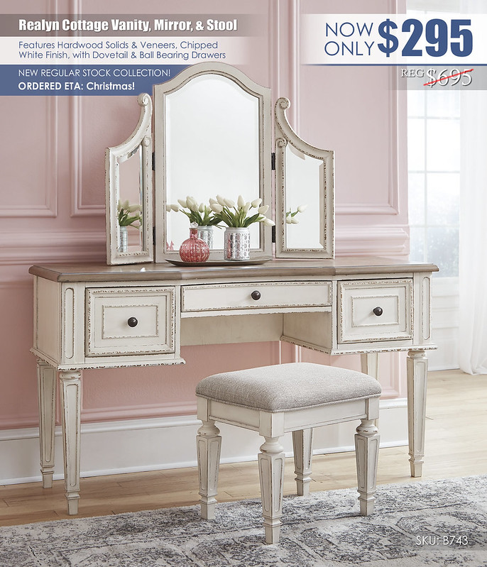 Realyn Cottage Vanity Mirror Stool Collection_B743-22_new