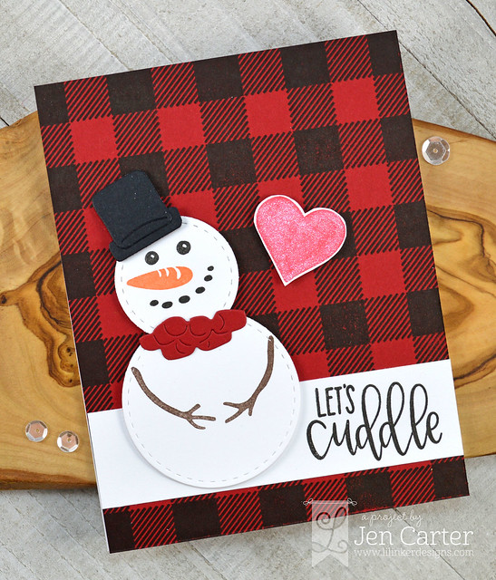 Jen Carter Cozy Plaid Comfy Cocoa Snowman Cuddle