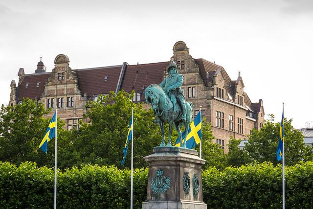 Sweden - Malmö - Stortorget - Charles X Gustav