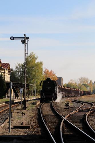2018-10-20; 0147. ZL ETB 44 1486-8  en SL IGE Werrabahn 52 1360-8 met GZ 404. Immelborn. Plandampf im Werratal, Dampffinale.