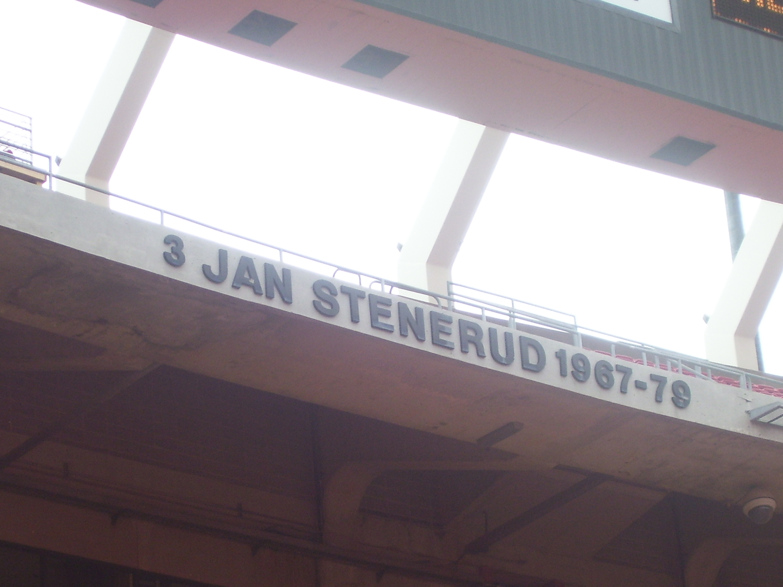 Jan Stenerud's name on the ring of honor at Arrowhead Stadium. Photo taken on June 7, 2008.