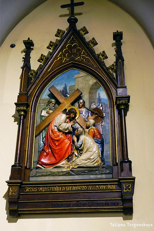 Сцена крестного пути, рельеф