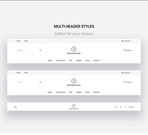 multiple header style