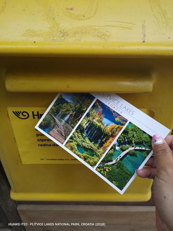 2018 Croatia Plitvice Lakes Postcard