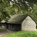 Barn (Stryd Lydan Penly Wrexham; originally built about 1550, re-erected 1951); St. Fagans, National Museum of History, Wales