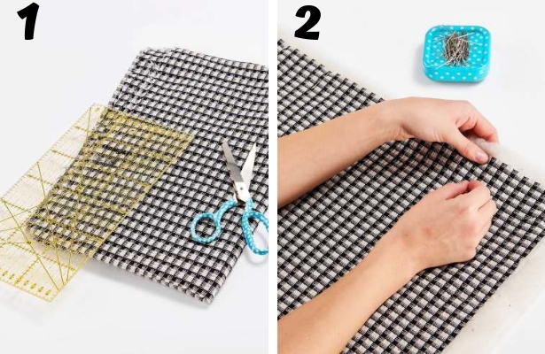 DIY Quilted Scarf Steps 1 2