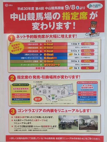 中山競馬場の指定席の変更