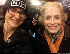 20170103_i08 Me & Holland Taylor by the stagedoor of Broadhurst Theatre, where she starred in ''Front page'' | New York City
